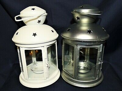 $19 • Buy BUY 1 Or MORE - 8  IKEA Rotera Tea Light Lanterns Blue, Lt Blue, White OR Silver