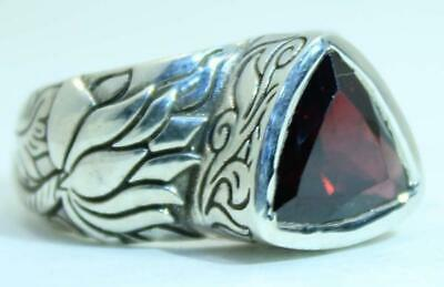 $85 • Buy Beautifully Detailed Sterling Silver Hand Carved  Lotus Flower Ring -- Available