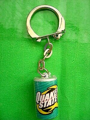 Vintage Quaker State Sign Oil Co Key Ring, Quaker State Oil Co  Key Charm Ring • 4.95$