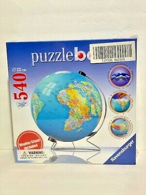 Ravensburger Puzzle Ball 540 Pieces /The Earth 3D With Stand/No. 111183 / NIB • 17.99$