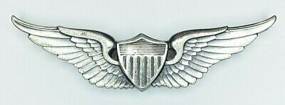 Authentic U.S. Army Vietnam War Pilot Wings 1/20 Sterling Silver Helicopter • 14.04$