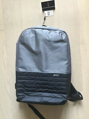 Swiss Peak Backpack Black Grey USB PORT NEW WITH TAGS • 17.73£