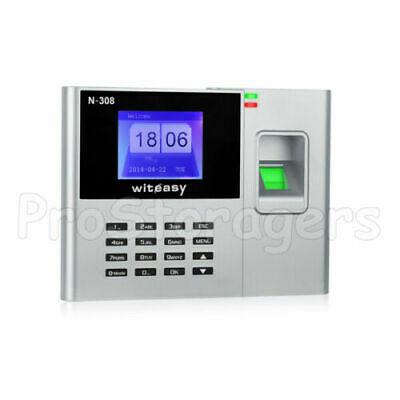 Employee Clocking In Machine With Fingerprint Recognition USB - Excel Download • 44.99£