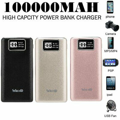 AU18.64 • Buy 100000mAh Universal Power Bank USB Battery Charger Powerbank For IPhone Mobile