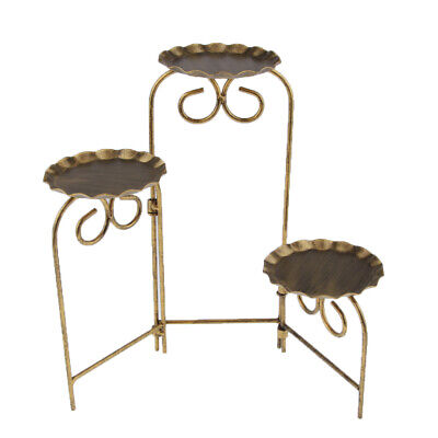 £16.95 • Buy 3 Tier Cake Stand Afternoon Tea Wedding Plate Party Tableware Foldable Gold