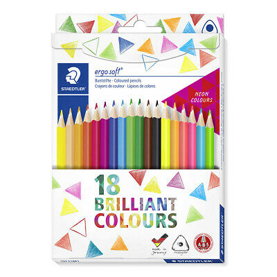 Staedtler Ergosoft Colouring Pencils - Assorted Colours (Pack Of 18) • 19.24£