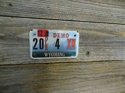 Wyoming Dealer Motorcycle License Plate All Original Paint Plate Rare With Low#! • 19.99$