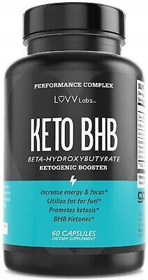 LUVV Lab Keto BHB Advanced Weight Loss - Boost Energy While Burning Fat 60 Caps • 12.98$