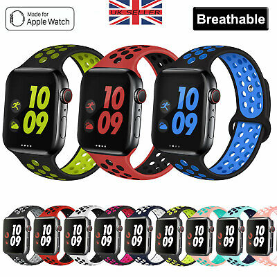 £3.98 • Buy For Apple Watch Band Series 6 5 4 Se 3 2 1 Sport Silicone Strap Band Wristband