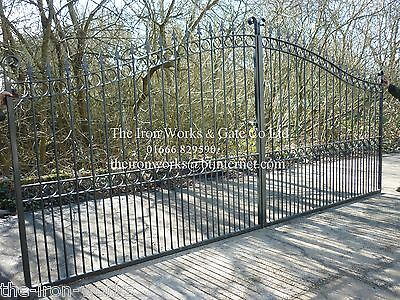 £1550 • Buy # Heavy With Posts Driveway Iron Estate Gates 16ft X 7ft Tall Quality Metal