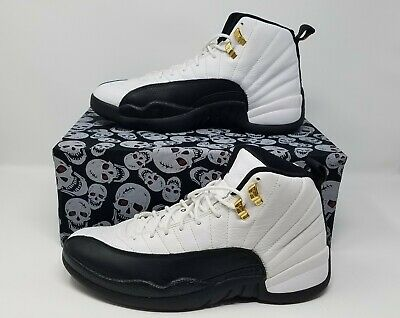 NIKE AIR Jordan 12 Taxi XII GREAT Retro CDP White Black Size 9.5 VNDS 130690-109 • 199$