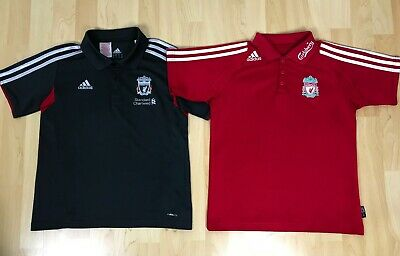 Adidas Liverpool FC Boys Youth Football Soccer Jersey Polo Shirt T-Shirt BUNDLE • 28.40£