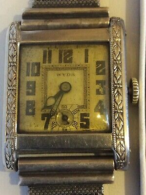 WYDA 1920's ART DECO UNISEX WRIST WATCH-IN ORIGINAL, EXCELLENT,FULL WORKING CON. • 111.50£