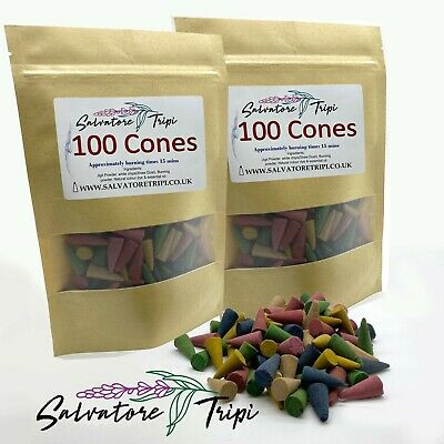 £7.99 • Buy 200 Incense CONES High Quality Scent Assorted Mixed Random Natural Made INDIA E1