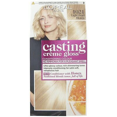 L'Oreal Casting Creme Gloss 1021 Light Pearl Blonde Semi Permanent Hair Dye • 5.99£