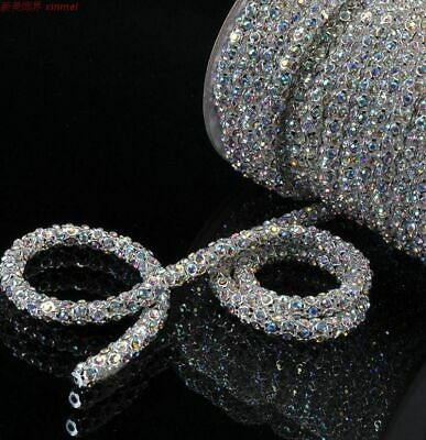 $16.07 • Buy  Rhinestone Clothes Crafts Decors 1m/roll Crystal Glass Strass Crystals Dia.6mm