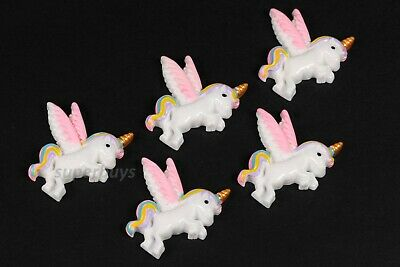 5pcs Pegasus Unicorn Figurine For Cake Decoration Topper Figure Toy Decorate • 5.02£