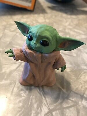 $55 • Buy Baby Yoda Fan Art Figurine Toy Hand Painted The Child Manadalorian