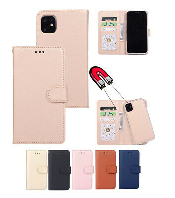 AU13.99 • Buy  IPhone 12 11 Pro Max 8 Plus SE Magnetic Removable Wallet Leather Case Cover