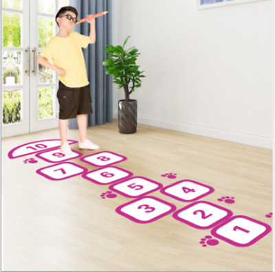 £9.39 • Buy Home Hopscotch Floor Sticker Foot Sticker Kids Bedroom Playroom Funny Game Decal