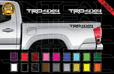 $15.83 • Buy 2- 2017 TRD 4x4 Off Road Toyota Tacoma Decal Set Truck Bed Vinyl Stickers