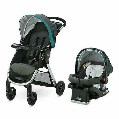 Graco Baby Stroller Travel System With Infant Car Seat Fast Action SE Folding • 201.88£
