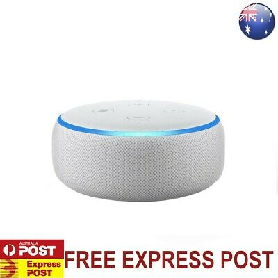 AU65 • Buy Amazon Echo Dot 3rd Generation Smart Speaker With Alexa - Sandstone Fabric