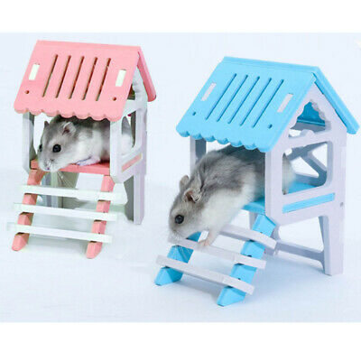 £5.08 • Buy Wooden Plastic Hamster Mouse Gerbil Playground Rat Pet Toy Play House Loft