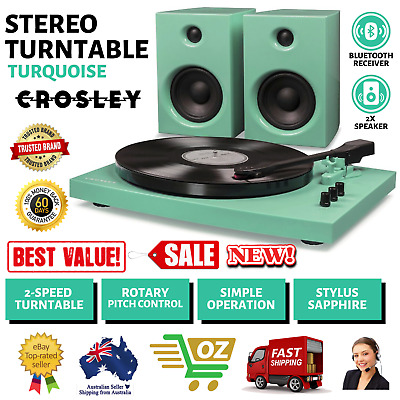 AU197.99 • Buy New Crosley T100 Record Player Bluetooth 4.1 Receiver 15 Watt Speaker 2 Music