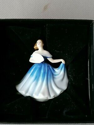 ROYAL DOULTON LADY ELAINE SMALL MODEL No.M 201 BLUE DRESS PERFECT WITH BOX • 12£
