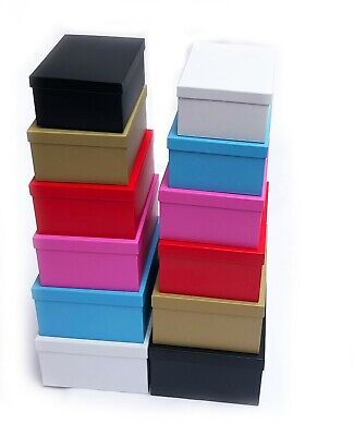 £5.99 • Buy Decorative Storage Boxes Gift With Lid Box Cardboard Organiser Large Stack Shelf