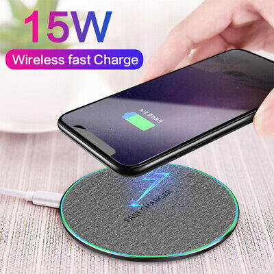 $ CDN6.65 • Buy 15W Wireless Charger Fast Charge Charging Mat For Samsung Galaxy S10 S9 S8 Plus