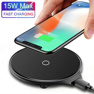 $ CDN5.84 • Buy 15W Qi Wireless Charger Fast Charging Pad Mat For Samsung S10 Note 10 Plus 9 8