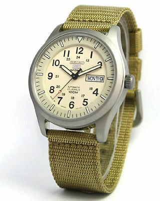 $ CDN265.48 • Buy Seiko 5 Sports Military Nylon Strap Watch SNZG07K1