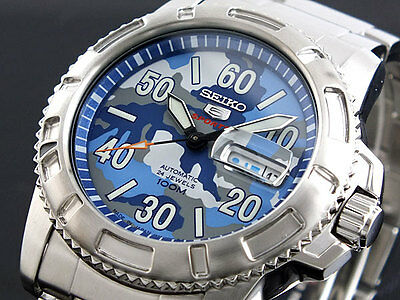$ CDN266.82 • Buy Seiko 5 Sports 100m Military Dial Men's Watch SRP223K1  SRP223K