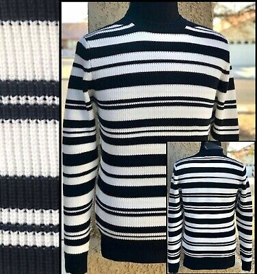 $29.88 • Buy ZARA MAN NAVY And WHITE STRIPE PULLOVER STRAIGHT FIT SWEATER Sz XL NWT $49.90