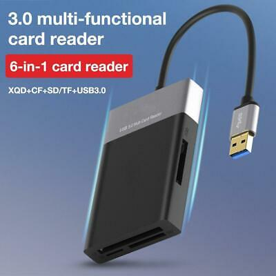$ CDN32.21 • Buy 6 In 1 Multi-Function USB3.0 2Port HUB Adapter To XQD/CF/for SD/TF Card Reader