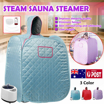 AU149.92 • Buy 1KW Portable 2.68L Steam Sauna Tent Home Spa Full Body Loss Weight Detox Therapy
