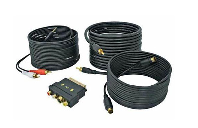 Belkin PC-DVD To TV Cable Kit, With S-Video Cable & Scart Adapter 5 Metres Black • 7.95£