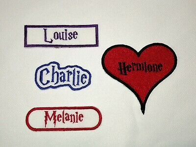 Personalised Embroidered Name Patch HARRY POTTER - Iron Or Sew On *FREE POST* • 3.25£