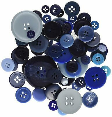 £5.65 • Buy Papermania 250 G Assorted Button Pack, Blue