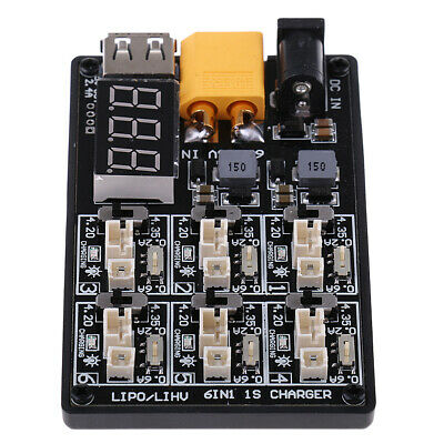 6 In 1 12V 1S 3A XT60 1.25 LiHV Lipo Battery Charger Board For RC Drone Part • 11.73£