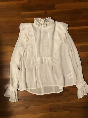 $ CDN90.75 • Buy NWOT Anthropologie Victorian-Styled Harriet Ruffled Blouse Size XS