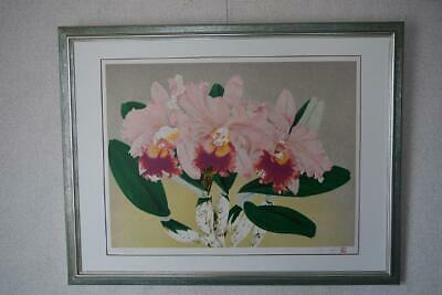 $ CDN2945.89 • Buy Nakajima Chinami Japanese Painter's Work Lithgraph Print Flower Art Rare Framed
