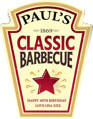 Personalised Heinz Bbq Sauce Ketchup Label - Party / Birthday / Wedding Occasion • 2.75£
