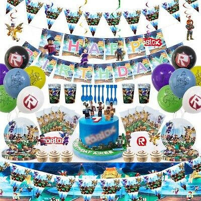 £4.29 • Buy All New Roblox Party Balloons Tablecloth Banner/Flag Plates Cups Party Supplies