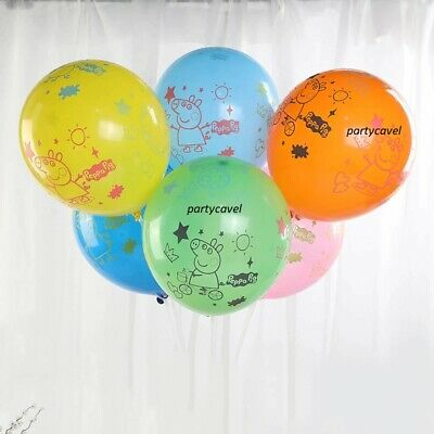 12  Peppa Pig George Birthday Party Latex Mixed Colour Balloons Decorations. • 4.59£