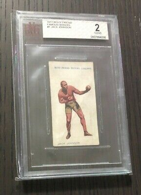 $189.99 • Buy 1911 Boys' Friend~JACK JOHNSON~Famous Boxers #1~Rare Card 108 Y/o~BVG 2 Good