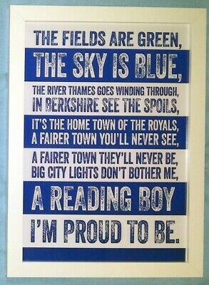 £9.99 • Buy Reading  I'm Proud To Be  A4 Framed Colour Song Poster Print