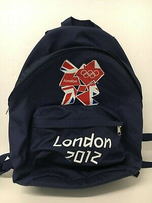 LONDON 2012 OLYMPIC GAMES Navy Blue Fabric Rucksack 18  Official Branded Merch • 4.99£